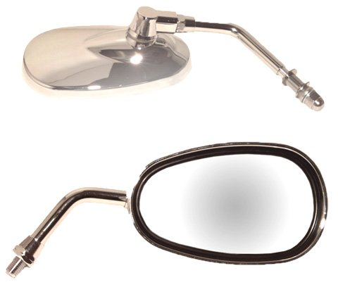 (Emgo 20-86835 Lil' Cruiser Chrome Finish 10mm Replacement Mirror)