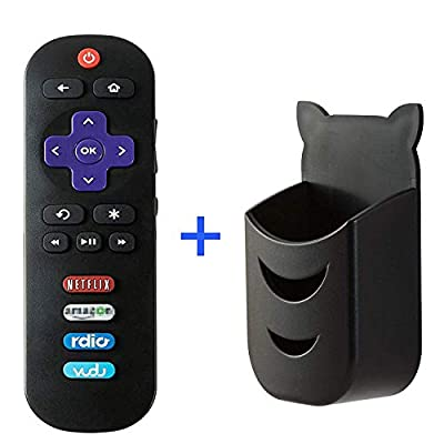 RC280 Remote Control Fit For TCL Roku TV Remote 32S3750 40FS3750 55UP120 40FS4610R 65US5800 32S3800 28S3750 32S3700 55UP130 50UP130 43UP130 32S3850A 32S3850B 32S3850P 32s301 55US5800 55c803 (Black)