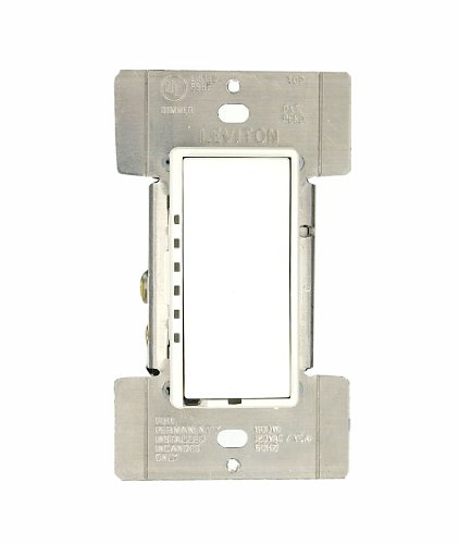 1lw Mural (Leviton MDI06-1LW Mural 600W Preset Digital Incandescent Rocker Dimmer, Single-Pole and 3-Way, White)