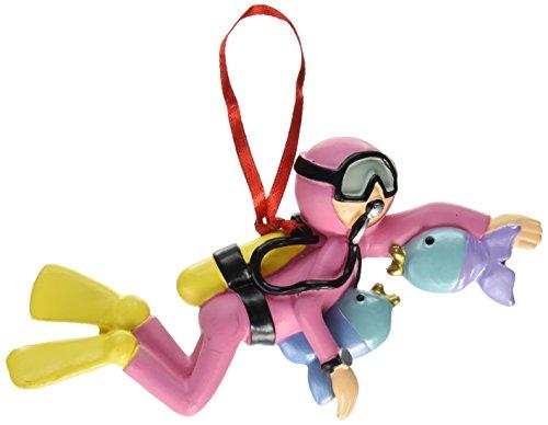 Ornament Central OC-124-F Female Scuba Diver Figurine
