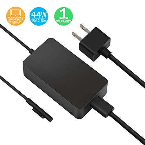 Surface Pro Surface Laptop Charger, 44W 15V 2.58A Power Supply Compatible Microsoft Surface Pro 6 Pro 4 Pro 3 Surface Laptop 2 Surface Pro Surface Laptop Surface Go & Surface Book