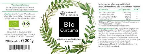 Bio Curcuma & Schwarzer Pfeffer Kapseln