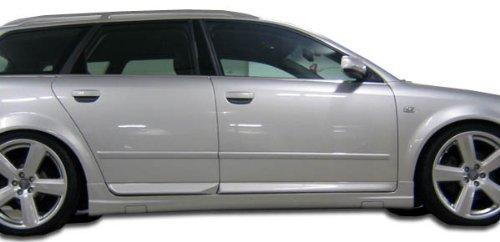 Audi Side Skirts - 2002-2008 Audi A4 S4 4DR Wagon Duraflex OTG Side Skirts Rocker Panels - 2 Piece