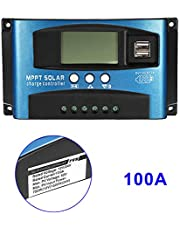 Loosnow 40A-100A MPPT Solar Panel Regulator Charge Controller 12V/24V Auto Focus Tracking Device
