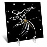 3dRose Whirling Dervish - Sufi Whirling,Meditation, Dervishes,Rebirth,Love, Acrylic Painting, Islam,Turkish - Desk Clock, 6 by 6-Inch (dc_63146_1)