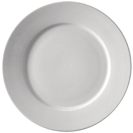 Athena hotelware PINACLE con borde ancho, plato, porcelana, Bulk ...