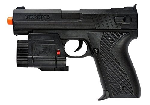 UKARMS 666AF Spring Pistol w/ Tactical Flashlight Black Finish FPS ()
