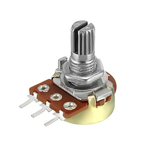 uxcell WH148 50K Ohm Variable Resistors Single Coil Film Potentiometer ()