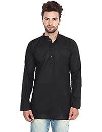 Indian Clothing Fashion Shirt Mens Short Kurta Cotton India Dress