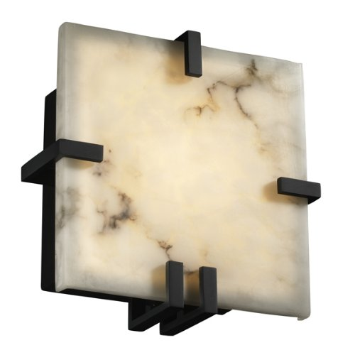 Justice Design Group FAL-5550-DBRZ LumenAria Collection Clips Square Wall Sconce (ADA)