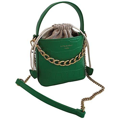 NAYI Serpentine Leather Crossbody Bags Messenger Bucket Bag Handle Bag Women Weave Beach Bags Shopping Girl Leather Green