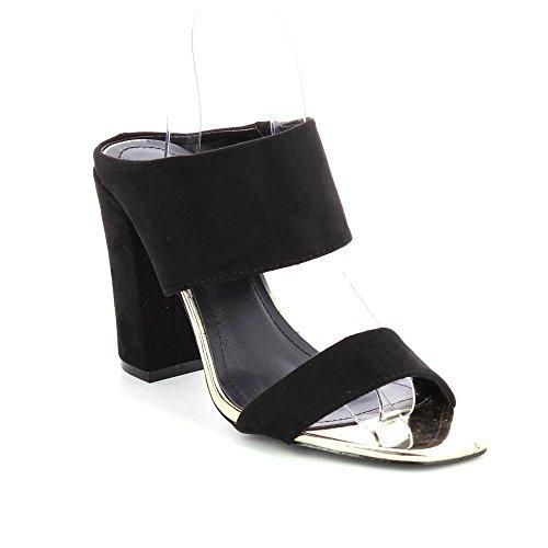 Go Tendance - Sandalias de vestir para mujer negro