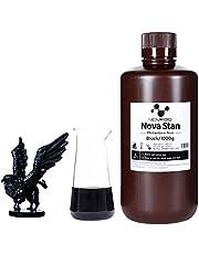 NOVA3D Resina para impressora 3D 405 nm LCD Resina rápida Resina fotopolímero padrão para impressão LCD 3D preto, 1000g