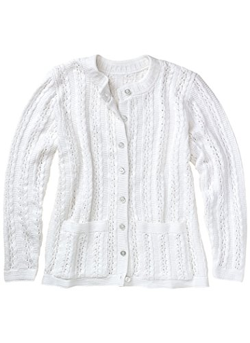 (Cable Stitch Cardigan White)