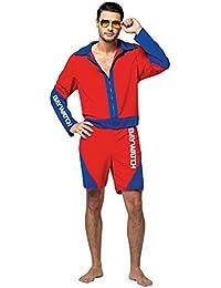 UHC Baywatch Male Lifeguard Suit Movie Theme Fancy Dress Halloween Costume, OS