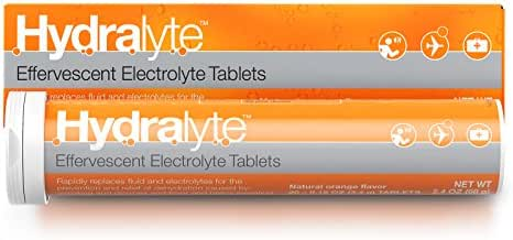 Hydralyte Electrolyte Hydration Tablets, Orange, 20 Count (Pack of 1)