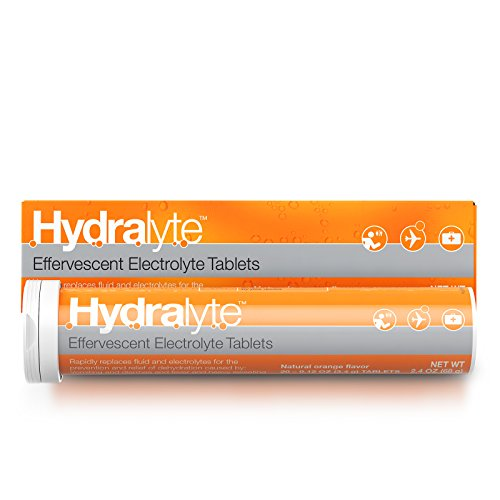 Hydralyte Electrolyte Hydration Tablets, Orange, 20 Count