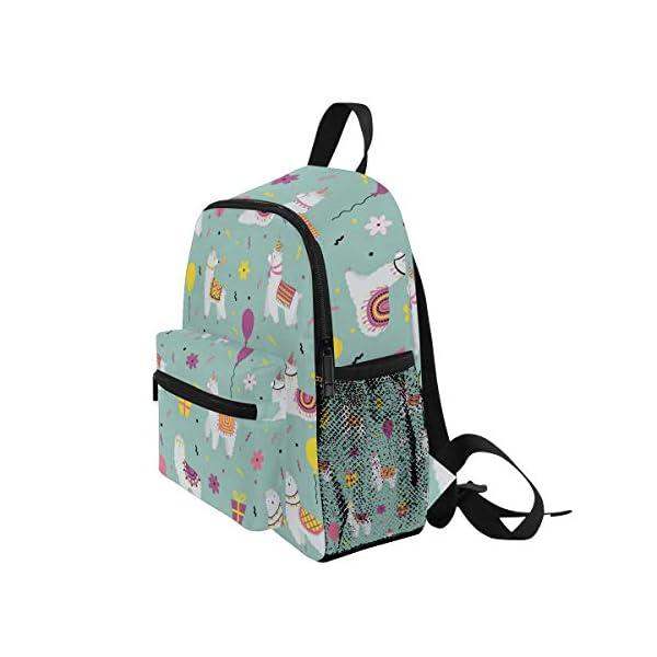 Alpaca Green Toddler Zaino Scuola Multi Carino Bookbags per la Scuola Ragazzi e Ragazze Ragazze Ragazzi Borse Bambini… 3 spesavip