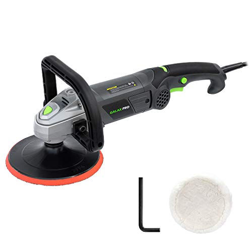 "Polisher, GALAX PRO 10Amp Car Buffer 7"" Waxer 6 Variable Speed Polisher Sander,Detachable D Shape Handle, Soft Star Trigger, Ideal for Polishing Home Appliance, Furniture, Ceramic, Car &Boat Detailing"