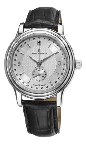 Revue Thommen Men's 14200-2532 Classic Mens Silver Face Pointer Date Watch Watch