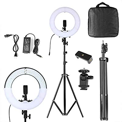 XYSQWZ Led Ring Light 10 Ring Light Kit with 3 Lighting Modes and 10 Brightness 3200K-5600K Dimmable LED Ring Lights for Makeup Camera Shooting YouTube