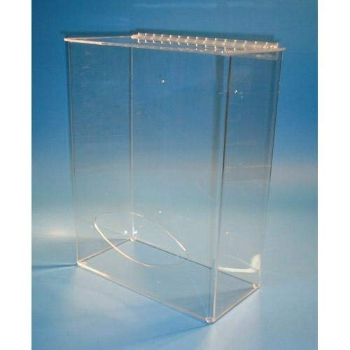 S-Curve Technologies BD-616, 3/16'' Tall Bouffant Dispenser, Acrylic (Pack of 2 pcs)