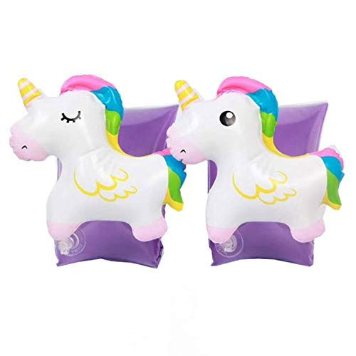 Jellydog Toy Unicorn Arm Floaties, Inflatable Armbands,Toddlers Floatation Sleeves Floats, Tube Water Wings Swimming Arm Floats for Kids
