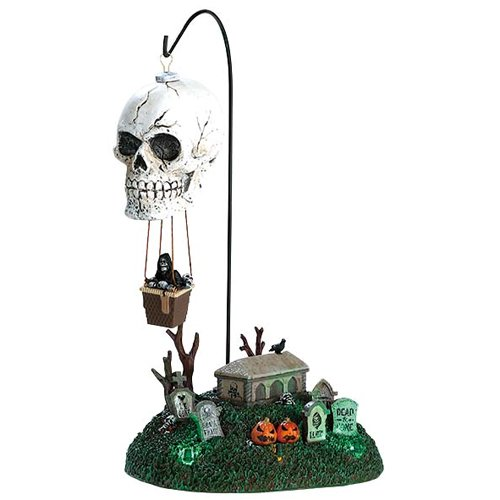 Lemax Spooky Town Halloween Reapers Landing Lighted and Animated Table Accent -