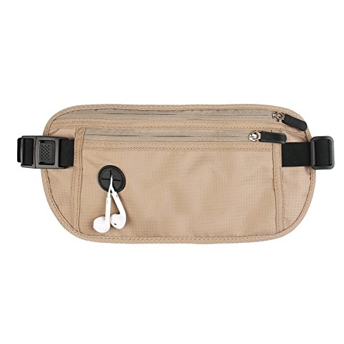 Travel Money Belt Hidden Fanny Pack with RFID Blocking. Fits Passports, Credit Card, Cash and More. Perfect Gift for Family and Friends! by Comecase