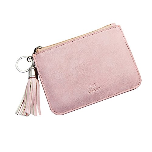 GEEAD Wallets for Women Small PU Leather Zipper Card Holder Mini Coin Purse Slim