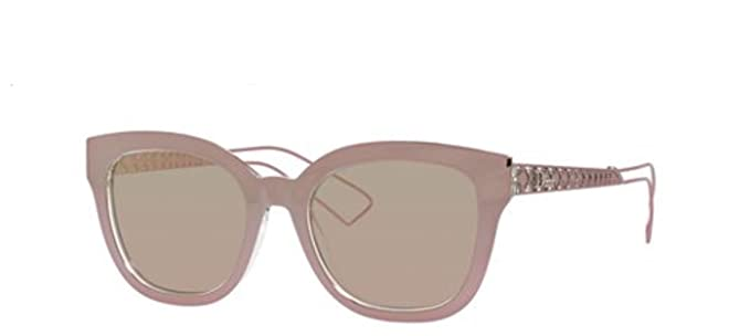 97ab9f2562 Image Unavailable. Image not available for. Color  Authentic Christian Dior  DIORAMA 1 S 0TGW Pink Crystal Sunglasses