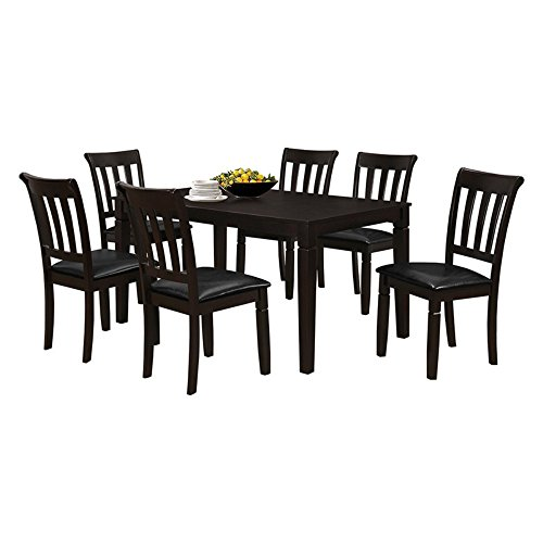 Salamanca-Salamanca 7Pc 60-Inch x 36-Inch Rectangular Dining Set, Dark Brown