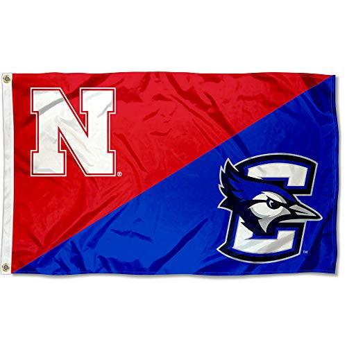 College Flags and Banners Co. Split Nebraska vs. Creighton House Divided 3x5 Flag