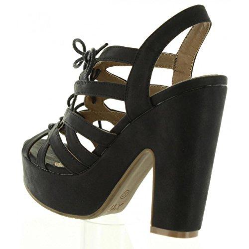 Sandalias de Mujer XTI 46612 METALIZADO NEGRO