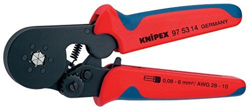 Knipex 97 53 14 SB Crimping Pliers for end sleeves with self-adjustment 0,08-10mm in blister packaging 53 Sb