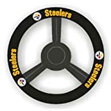 CSY-2324598113-Pittsburgh Steelers NFL Leather Steering Wheel Cover