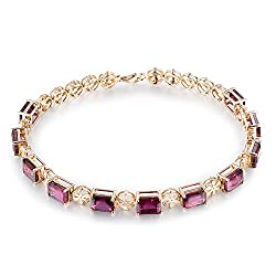 Rose Gold Tourmaline Gold Bracelet