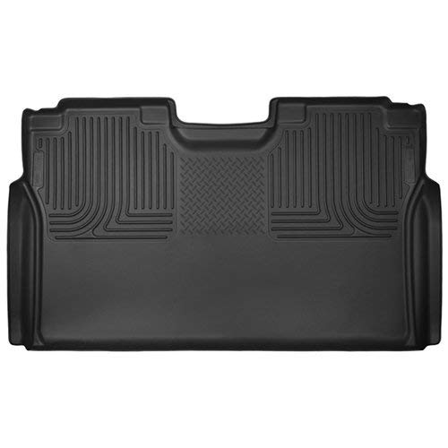Husky Liners 53491 Black X-act Contour 2nd Seat Floor Liner Fits 2015-2019 Ford F-150 SuperCrew Cab, 2017-2019 Ford F-250/f-350 Super Duty Crew Cab Pickup WITHOUT factory storage box (Custom Boots Hunting)