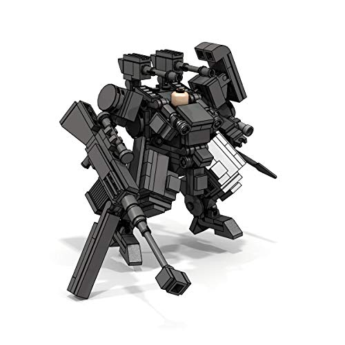 LionMoc Walking War Squadron Two-Legged Combat Robot Mecha Compatible with Lego Building Set Moc DIY Building Block Machine (Walking War Squadron-Dark Gray)