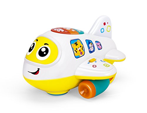 - Advanced Play airplane toy bump and go plane with music flashing lights and realistic engine sounds great gift for little baby toddlers boys and girls