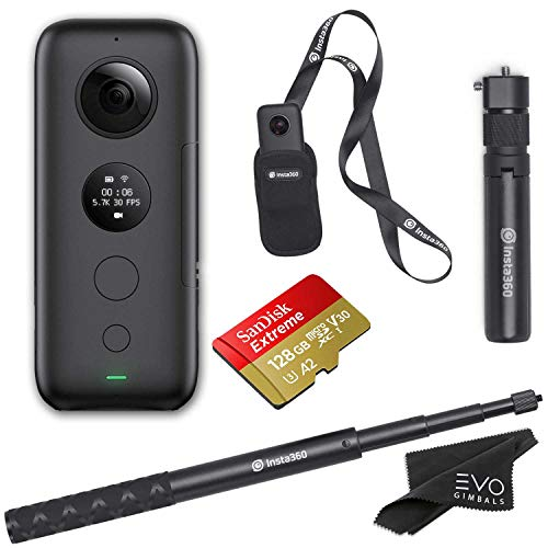 Insta360 ONE X 360 Camera, Bullet Time Handle, and Invisible Selfie Stick