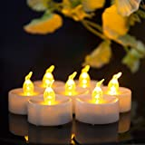 ANLight 12pcs Amber Yellow Tea Lights with Timer Function Battery Operated LED Candles for Outdoor, Indoor, Thankgiving Days, Christmas Day