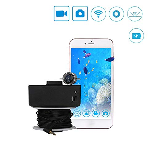 MUJING 2.4G Wi-Fi Wireless 20m View Fish Finder Underwater Video Fishing Camera Equipment