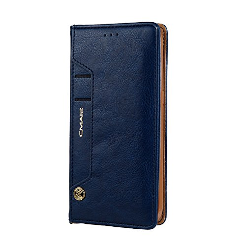 MeiLiio Phone case Samsung S8 Premium PU Leather with Card Slot Lightweight Dual Layer Design Retro Simple Stylish Vintage Fashion Smart Stand Wallet Case for Samsung galaxy S8 (Blue) by MeiLiio