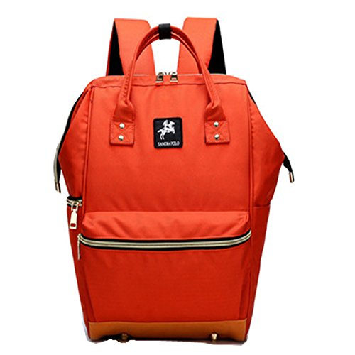 BigForest Multifunction Mummy Backpack Travel Bag Baby Diaper Nappy Changing Handbag tote bag Orange