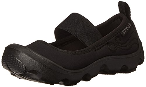 crocs Duet Busy Day PS Mary Jane (Toddler/Little Kid), Black/Black, 12 M US Little Kid