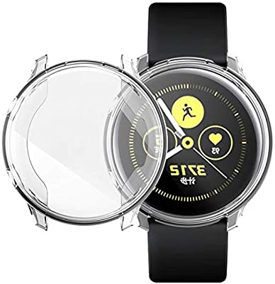 UPSTONE Screen Protector Case for Samsung Galaxy Watch Active 40mm, All Around Ultra-Thin Soft TPU Clear Touch Screen Protector Bumper Cover Case for ...