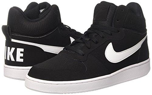 Noir Mid Pour Nike Blanc Borough noir Chaussures Basketball Hommes De Court wnFCPqBa