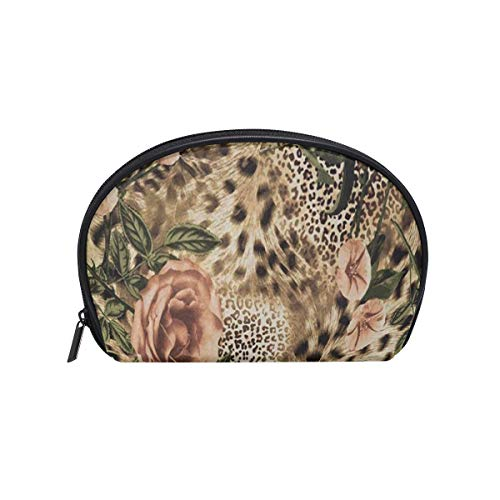 SLHFPX Makeup Bag Animal Leopard Print Floral Girls Travel Cosmetic Bag Womens Toiletry Organizer]()