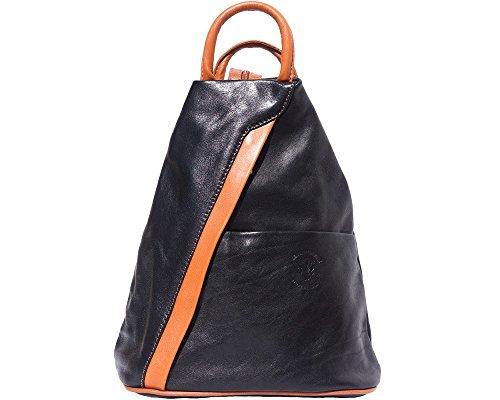 LaGaksta Submedium Italian Leather Backpack Purse Black Leather